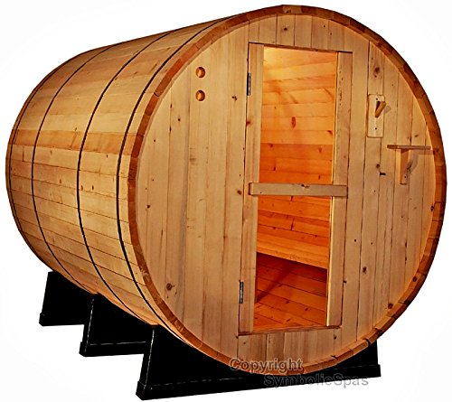 4-Person-Outdoor-6-Ft-Barrel-Steam-Sauna-Pine-Wood-6KW-Wet-Dry-Heater-220V-28-Amp-1-Year-Parts-Warranty-Model-6FTPN-sds-0