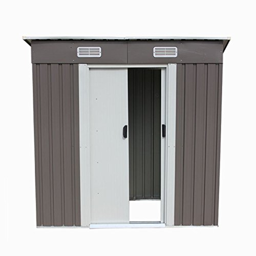 46-Outdoor-Steel-Metal-Garden-Storage-Shed-Tool-House-WSliding-Door-0-2