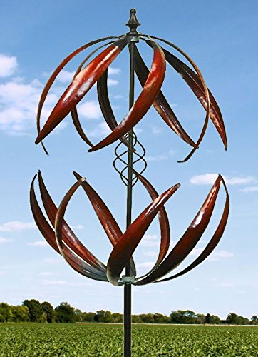 84-Double-Leaves-Blades-Metal-Wind-Sculpture-0