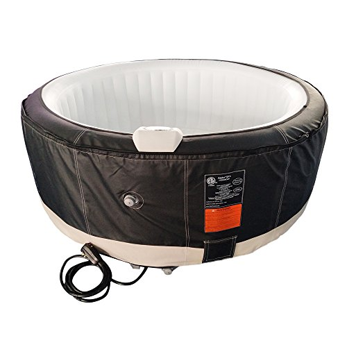 ALEKO-HTIR4BKWH-Round-Inflatable-Hot-Tub-Spa-with-Zip-Cover-4-Person-210-Gallon-Black-and-White-0
