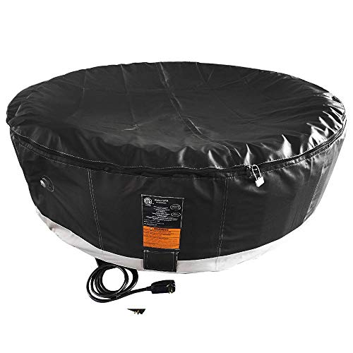ALEKO-HTIR6BKBK-Round-Inflatable-Hot-Tub-Spa-with-Zip-Cover-6-Person-265-Gallon-Black-0-1