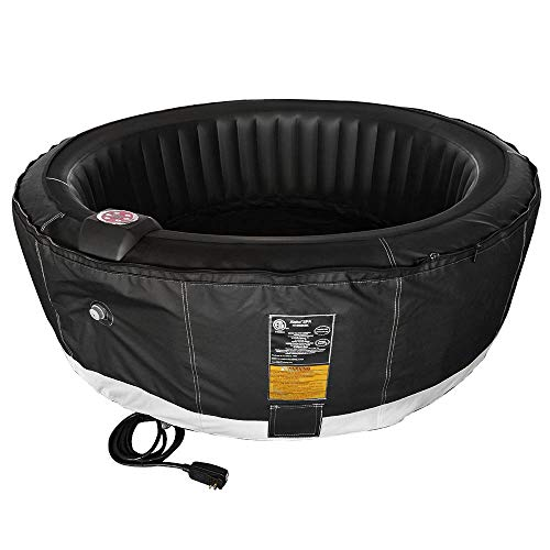 ALEKO-HTIR6BKBK-Round-Inflatable-Hot-Tub-Spa-with-Zip-Cover-6-Person-265-Gallon-Black-0