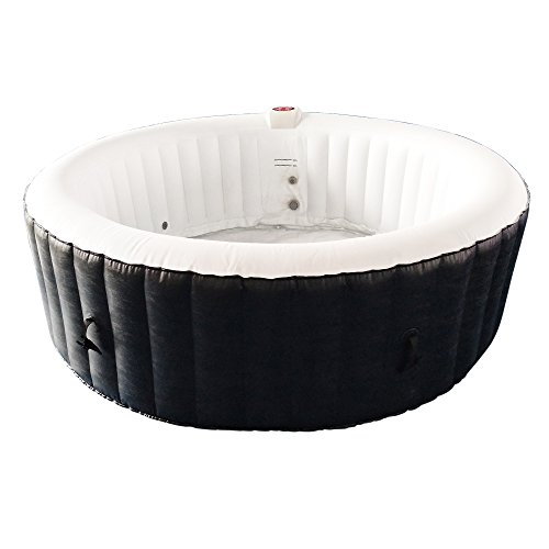 ALEKO-HTIR6BKW-Round-Inflatable-Hot-Tub-Spa-with-Cover-6-Person-265-Gallon-Black-and-White-0-1