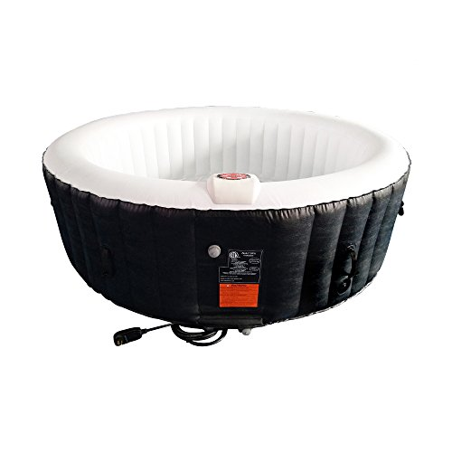 ALEKO-HTIR6BKW-Round-Inflatable-Hot-Tub-Spa-with-Cover-6-Person-265-Gallon-Black-and-White-0