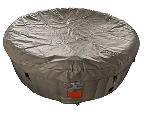 ALEKO-HTIR6BRW-Round-Inflatable-Hot-Tub-Spa-with-Cover-6-Person-265-Gallon-Brown-and-White-0-1