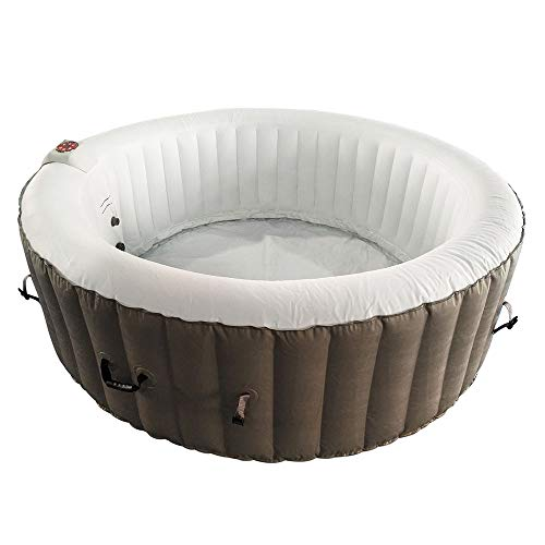 ALEKO-HTIR6BRW-Round-Inflatable-Hot-Tub-Spa-with-Cover-6-Person-265-Gallon-Brown-and-White-0