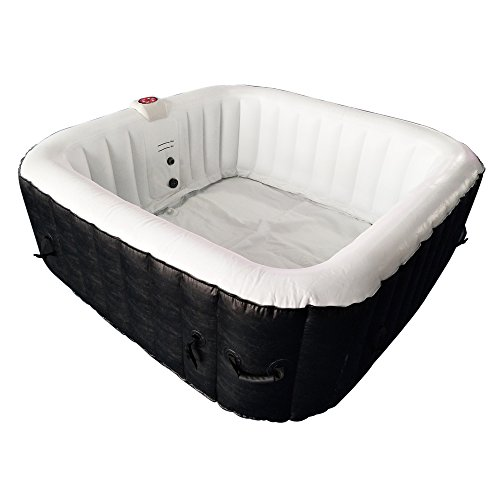 ALEKO-HTISQ6BKWH-Square-Inflatable-Hot-Tub-Spa-with-Cover-6-Person-250-Gallon-Black-and-White-0-0