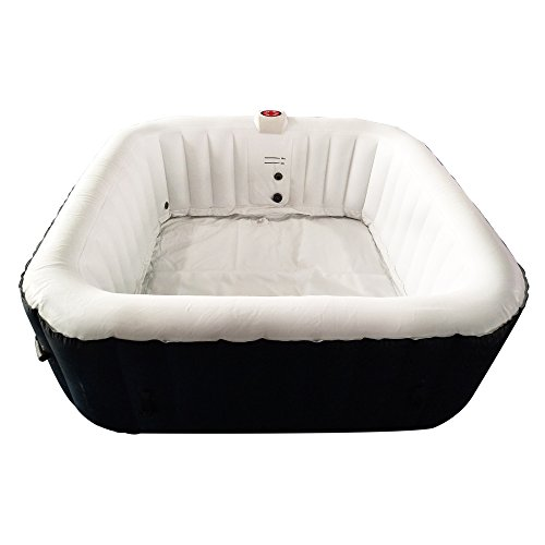 ALEKO-HTISQ6BKWH-Square-Inflatable-Hot-Tub-Spa-with-Cover-6-Person-250-Gallon-Black-and-White-0-1