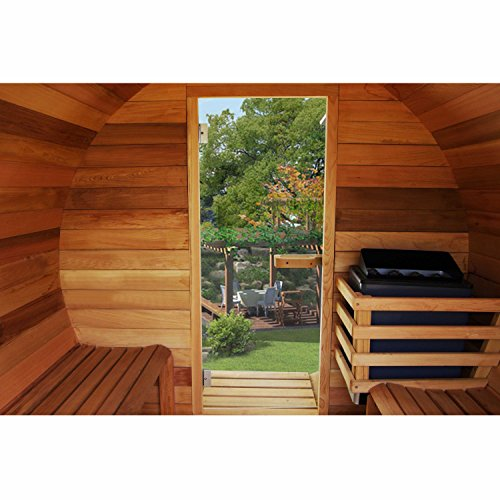 ALEKO-SB7ABPI-Pine-Indoor-Outdoor-Wet-Dry-Barrel-Sauna-and-Steam-Room-9-kW-ETL-Certified-Heater-7-Person-95L-x-71D-Inches-0