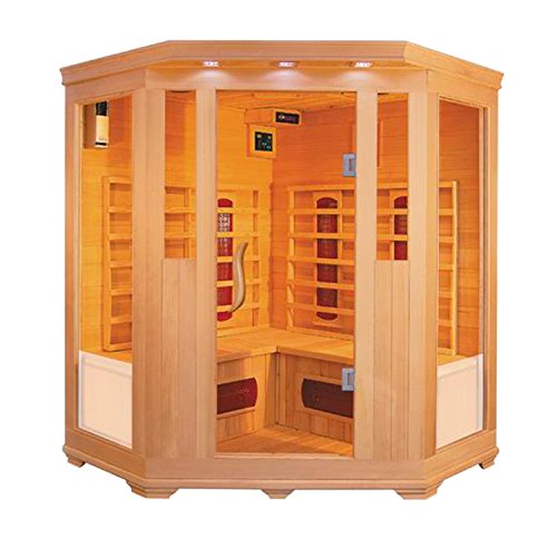 ALEKO-SC3CKEM-Canadian-Hemlock-Indoor-Dry-Mini-Sauna-2-kW-Far-Infrared-Heater-3-to-4-Person-59-x-24-x-50-x-75-Inches-0