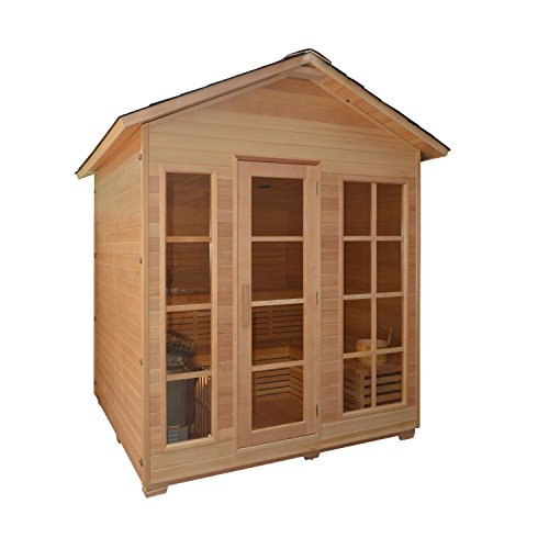 ALEKO-STO6IMATRA-Canadian-Hemlock-Indoor-Outdoor-Wet-Dry-Sauna-and-Steam-Room-45-kW-ETL-Certified-Heater-4-Person-71-x-47-x-845-Inches-0