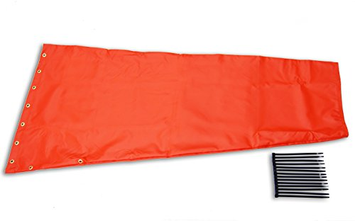 Airport-Windsock-Corporation-18-X-48-Orange-Replacement-Windsock-100-USA-Made-0