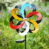 Alpine-Corporation-YCC212SLR-Solar-Metal-Windmill-with-Ball-Multicolor-0-0