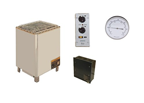 Amerec-Pro-12-KW-Floor-Standing-Sauna-Heater-with-Rocks-and-SC-60-Time-and-Temperature-Control-Required-Contactor-and-Free-Room-Thermometer-0