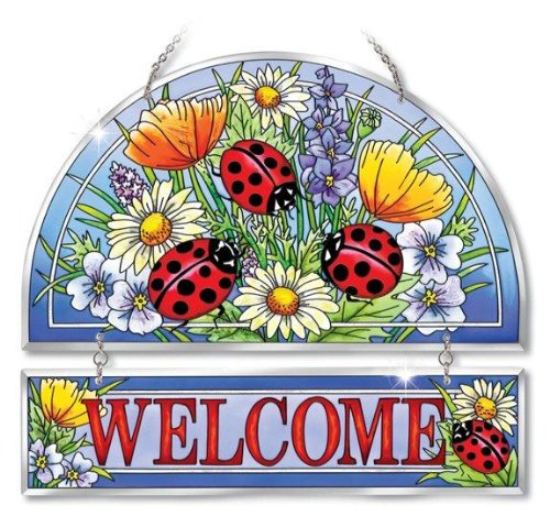 Amia-Beveled-Glass-Hospitality-Panel-Hand-Painted-Ladybug-Design-12-by-11-Inch-0