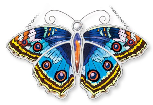 Amia-Blue-Pansy-Butterfly-Hand-Painted-Glass-Suncatcher-10-12-Inch-0
