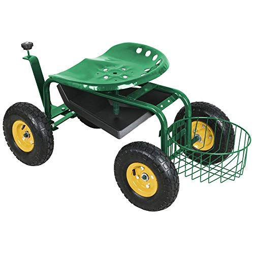 AyaMastro-Green-386-Rolling-Garden-Work-Seat-Cart-wTool-Tray-Ebook-0-1