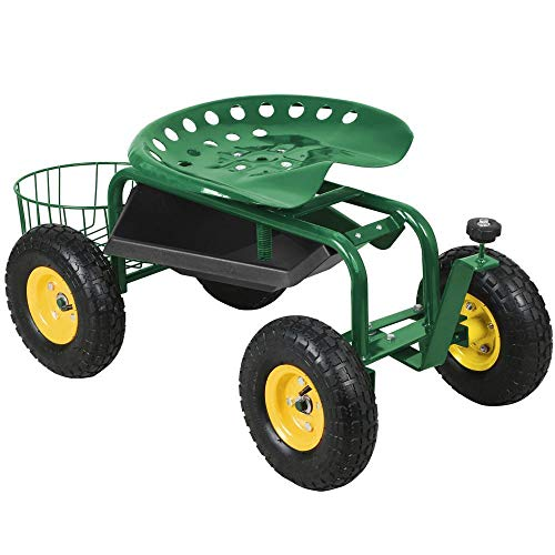 AyaMastro-Green-386-Rolling-Garden-Work-Seat-Cart-wTool-Tray-Ebook-0