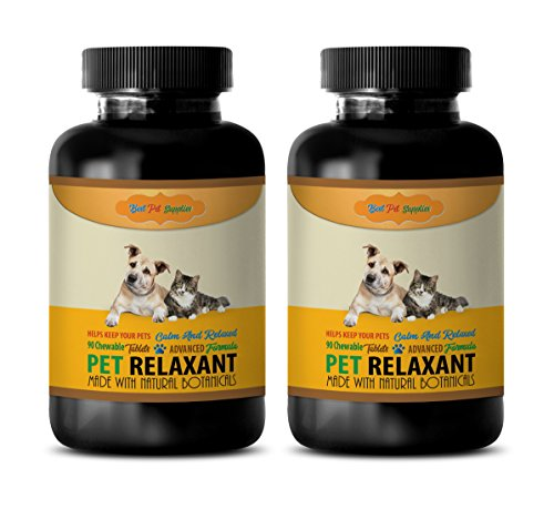 BEST-PET-SUPPLIES-LLC-cat-calmer-products-PET-RELAXANT-FOR-DOGS-AND-CATS-CALM-AND-RELAX-YOUR-PET-CHEWABLE-cat-calming-products-180-Chews-2-Bottle-0