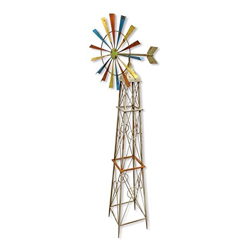 Backyard-Expressions-908798-Rainbow-Windmill-Decoration-0