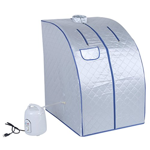 Belovedkai-Portable-Steam-Sauna-Home-Spa-Full-Body-Slimming-Loss-Weight-Detox-Indoor-Steam-Pot-Silver-0-0