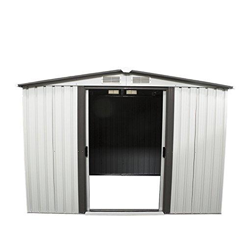 Bestmart-INC-New-6-x-8-Outdoor-Steel-Garden-Storage-Utility-Tool-Shed-Backyard-Lawn-Building-Garage-with-Sliding-Door-0-0