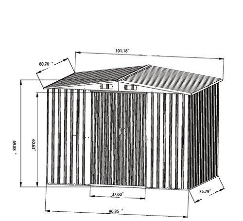 Bestmart-INC-New-6-x-8-Outdoor-Steel-Garden-Storage-Utility-Tool-Shed-Backyard-Lawn-Building-Garage-with-Sliding-Door-0-2