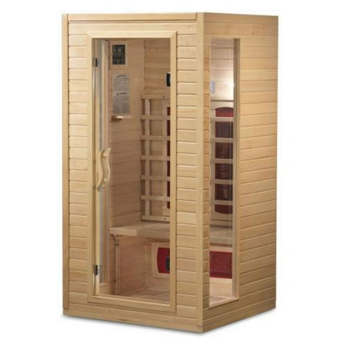 BetterLife-BL9101-1-2-Person-Ceramic-Infrared-Sauna-39-by-36-by-72-Inch-Natural-Hemlock-Wood-Finish-0