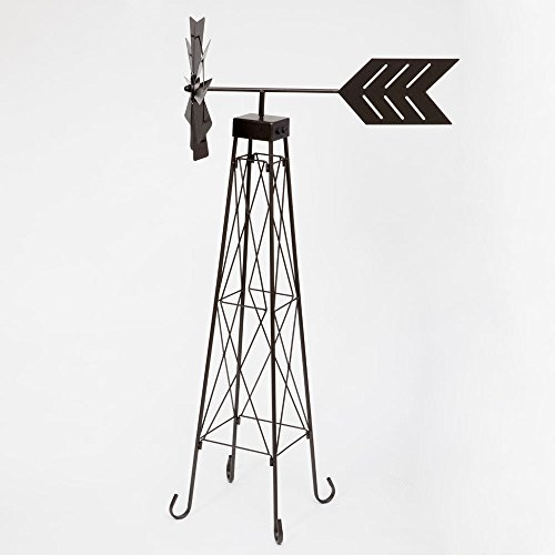 Bits-and-Pieces-4-Windmill-Wind-Spinner-48-Weather-Resistant-Obelisk-made-of-Powder-Coated-Steel-Perfect-Outdoor-Lawn-and-Garden-Dcor-0-1