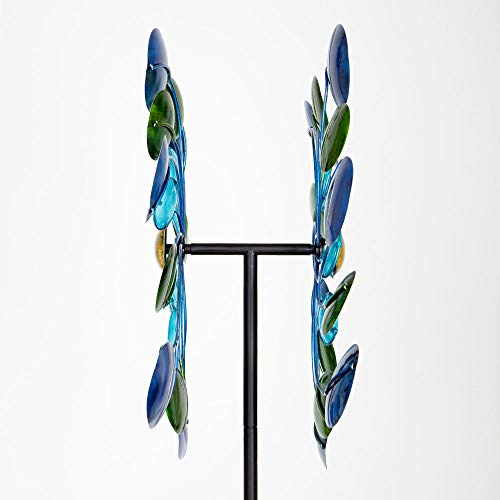 Bits-and-Pieces-63-Multi-Colored-Aurora-Borealis-Wind-Spinner-Reflects-Sunlight-to-Create-Spectacular-Glowing-Effect-Steel-Outdoor-Lawn-and-Garden-Dcor-0-2