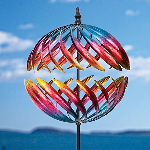 Bits-and-Pieces-Magnificent-Jupiter-Two-Way-Giant-22-Inch-Diameter-Wind-Spinner-Multicolor-Kinetic-Garden-Windspinner-Decorative-Lawn-Ornament-Wind-Mill-Unique-Outdoor-Lawn-and-Garden-Dcor-0