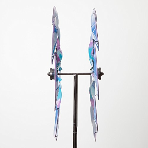 Bits-and-Pieces-Wind-Powered-LED-Sea-Breeze-Wind-Spinner-Decorative-Lawn-Ornament-Wind-Mill-Spectacular-Kinetic-Garden-Spinner-with-Light-Show-0-2