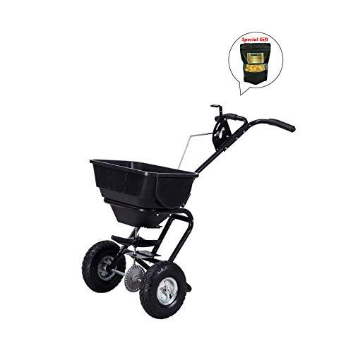 Broadcast-Spreader-Builder-Garden-Seeder-Push-Walk-Behind-Fertilizer-Black-GET-SPECIAL-GIFT-Organic-Silkworm-Cocoon-0