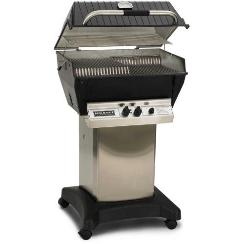 Broilmaster-P3-xf-Premium-Propane-Gas-Grill-On-Stainless-Steel-Cart-0