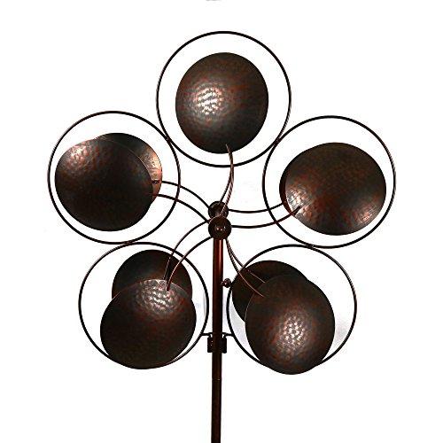 Bronzed-Inverse-Circles-Wind-Garden-Spinner-0