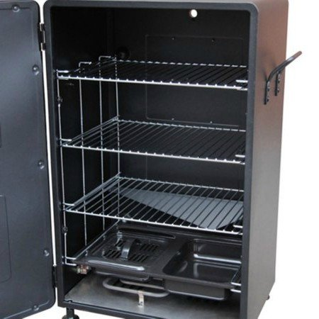 By-Outdoor-Home-Design-Electric-Smoker-Grill-26-H-with-3-Adjustable-Cooking-Grates-Color-Black-0-0