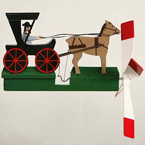 CHSGJY-Handcrafted-Antique-Garden-Amish-Horse-and-Buggy-Whirligig-Handmade-Handpainted-Wood-Wind-Spinner-Outdoor-Art-Yard-Stake-Hand-Home-Living-Decor-0