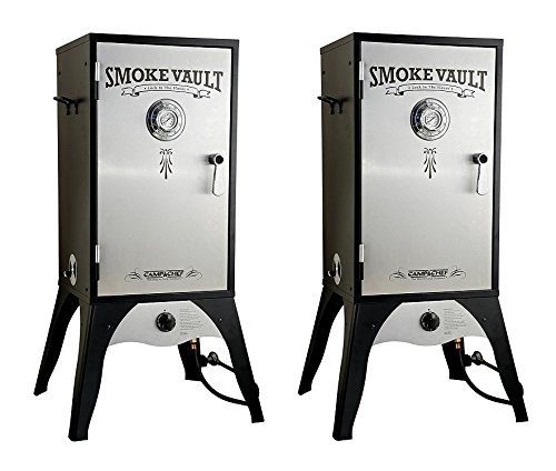 Camp-Chef-Smoker-18-Inch-Smoke-Vault-Large-with-Stainless-Door-and-Adjustable-Shelves-SMV18S-Pack-of-2-0