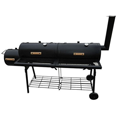 Chloe-Rossetti-Black-Smoker-BBQ-Nevada-XLHandle-bars-material-Wood-Smoker-Fire-compartment-Dimension-1-118-x-118-Diameter-x-L-0-0