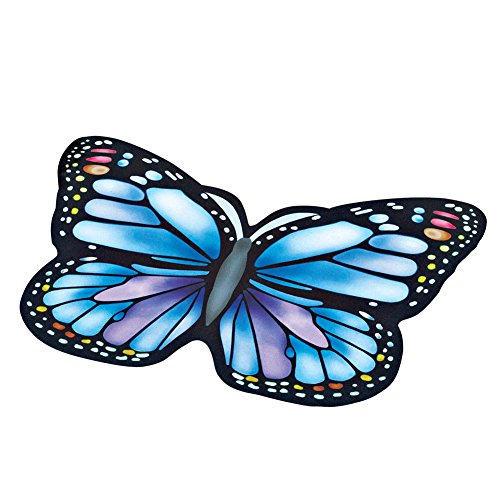 Collections-Etc-Colorful-Vibrant-Butterfly-Shaped-Rubber-Outdoor-Door-Mat-0
