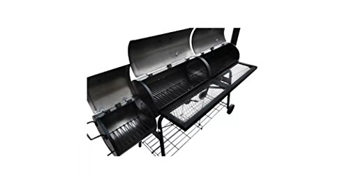 Comfyleads-Smoker-BBQ-Nevada-XL-Black-Powder-Coated-Metal-Wood-68-x-256-x-524-0-1