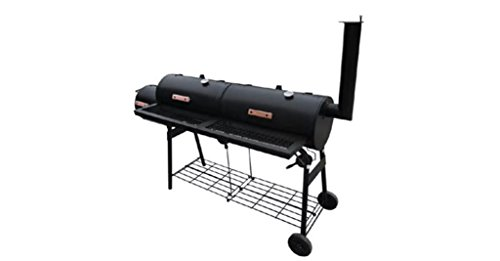 Comfyleads-Smoker-BBQ-Nevada-XL-Black-Powder-Coated-Metal-Wood-68-x-256-x-524-0