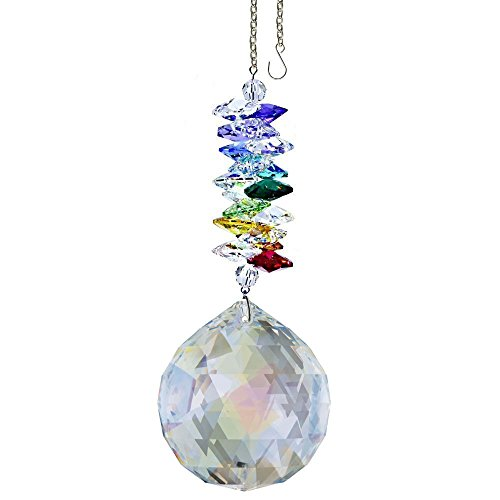 CrystalPlace-Crystal-Ornament-45-inch-Suncatcher-Aurora-Borealis-Faceted-Ball-Prism-Rainbow-Maker-Crystal-Cascade-Made-with-Swarovski-Crystals-0