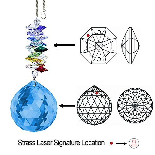 CrystalPlace-Crystal-Ornament-45-inch-Suncatcher-Blue-Sapphire-Faceted-Ball-Prism-Rainbow-Maker-Crystal-Cascade-Made-with-Swarovski-Crystals-0-0