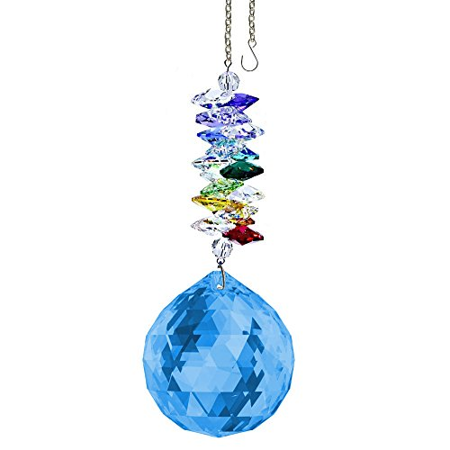 CrystalPlace-Crystal-Ornament-45-inch-Suncatcher-Blue-Sapphire-Faceted-Ball-Prism-Rainbow-Maker-Crystal-Cascade-Made-with-Swarovski-Crystals-0
