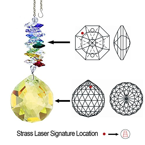 CrystalPlace-Crystal-Ornament-45-inch-Suncatcher-Light-Topaz-Faceted-Ball-Prism-Rainbow-Maker-Crystal-Cascade-Made-with-Swarovski-Crystals-0-0