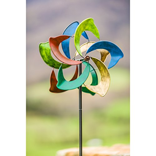 Evergreen-Oasis-Outdoor-Safe-Kinetic-Wind-Spinning-Topper-Pole-Sold-Separately-0-1