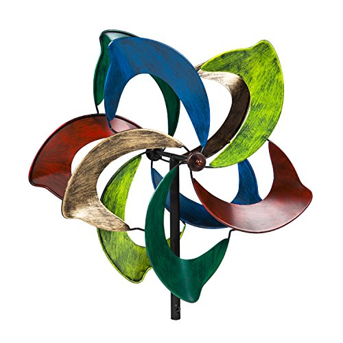 Evergreen-Oasis-Outdoor-Safe-Kinetic-Wind-Spinning-Topper-Pole-Sold-Separately-0
