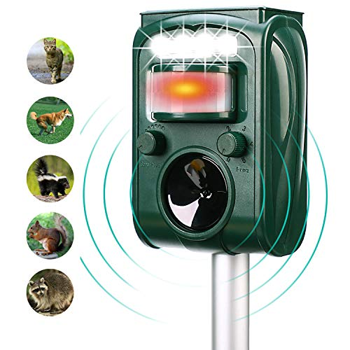 FAYINWBO-Solar-Ultrasonic-Animal-Repellenr-Outdoor-Waterproof-Pest-Repeller-Motion-Activated-LED-Lights-Repel-Animal-Pests-Cats-and-Dogs-Squirrels-Raccoons-Foxes-Mouse-Skunks-Rabbit-etc-0-0