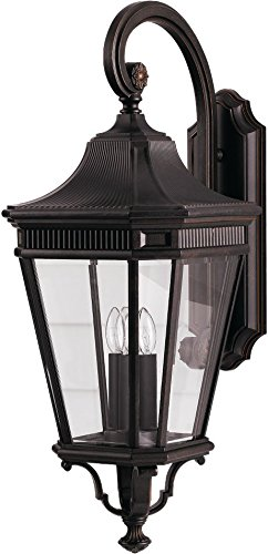 Feiss-OL5404GBZ-LED-Cotswold-Lane-LED-Outdoor-Patio-Lighting-Wall-Lantern-Bronze-1-Light-12W-x-30H-0